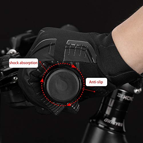 Bruce Dillon Windproof Riding Bicycle Gloves Touch Screen Riding Mountain Bike Bicycle Gloves Warm Motorcycle Winter Autumn Bike Clothing - a6 X M