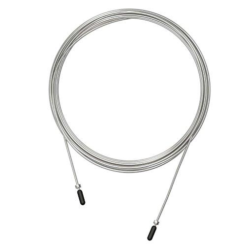 Cable de Repuesto para comba de Saltar de Crossfit, Fitness y Boxeo | Cable Acero de 1,8 mm | Compatible con Otras Marcas. Cable Plata COMPETICIÓN 1,8 MM VELITES