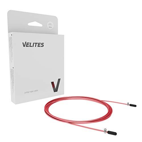 Cable de Repuesto para comba de Saltar de Crossfit, Fitness y Boxeo | PVC Amarillo y Acero de 2,5 mm | Compatible con Otras Marcas. Cable Rojo Entrenamiento 2,5 MM VELITES