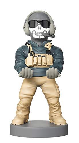 Cable Guy Simon Riley, Soporte de sujeción y Carga para Mando de Consola y Smartphone de con Personaje Favorito con Licencia de Call of Duty. Producto con Licencia Oficial. Exquisite Gaming