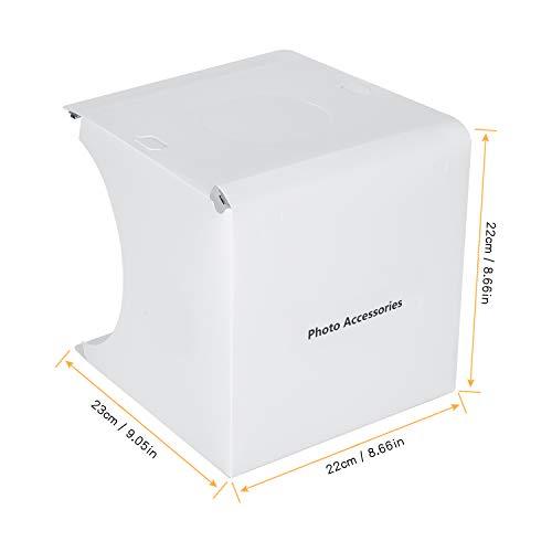 Caja de Luz Fotografía para Estudio Fotográfico,Photo Studio Light Box Fotografía con 2 Tiras de LED 6000-6500K,6 Fondos de Colores, Portátil,Fácil de Instalar