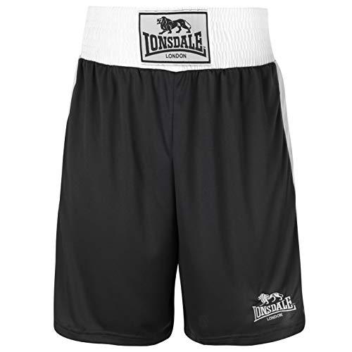 Caja de pantalón corto para hombre Lonsdale pantalones de deporte de los cierres de Wear Sport de boxeo de entrenamiento
