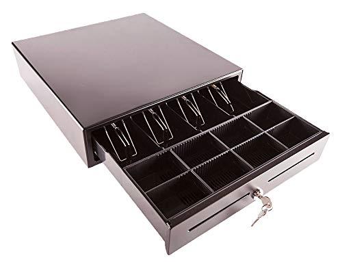 Cajón portamonedas Geon automático - eléctrico (41x41x10 cm) 8 monedas 4 billetes - Estructura metálica - Conector RJ11 - Color negro