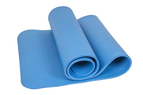 Calma Dragon 85611 Esterilla para Yoga NBR Colchoneta Antideslizante Ideal para Pilates Ejercicios Fitness Gimnasia Estiramientos 180x60x1cm (Negro)