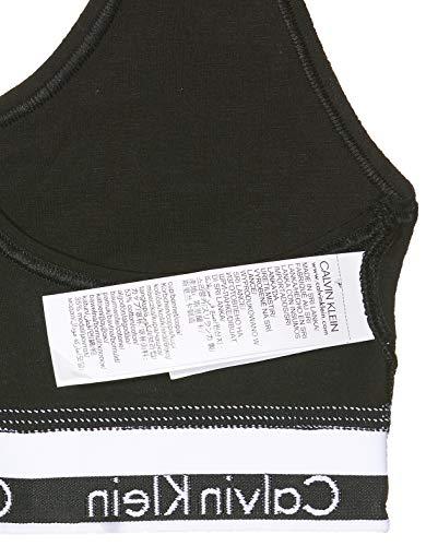 Calvin Klein 0000F3785E, Sujetador Deportivo para Mujer, Negro (Black 001), L