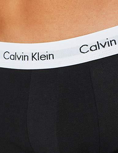Calvin Klein 3p Low Rise Trunk Calcetines, Schwarz (Black 001), M (Pack de 3) para Hombre