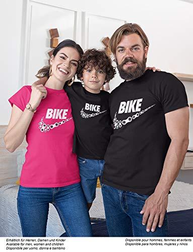 Camiseta de Bicileta: Bike - Regalo para Ciclistas - Bici - BTT - MTB - BMX - Mountain-Bike - Downhill - Regalos Deporte - Camisetas Divertida-s - Ciclista - Retro - Fixie-Bike Shirt (M)