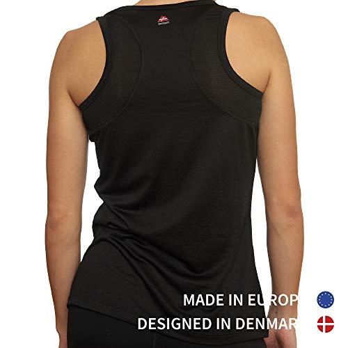 Camiseta Deportiva sin Mangas para Mujer, Pack de 1, Camiseta Suelta Racerback con Espalda Descubierta para el Gimnasio, Hacer Ejercicios, Correr, Yoga (Negro, Medium)