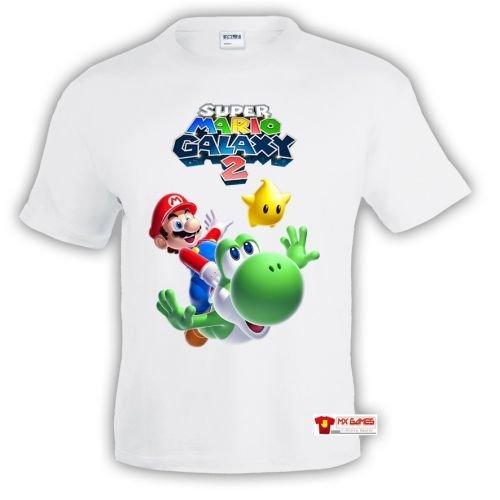 Camiseta Super Mario Galaxy 2 y Yoshi (Talla: 7-8 años)