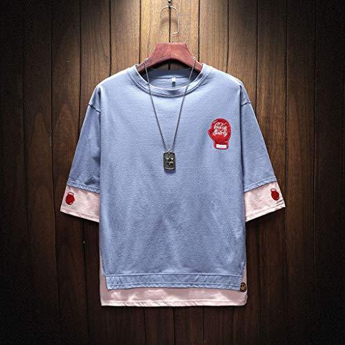 Camisetas Hombre Manga Corta Verano Camisa Casuales Deportivas Músculo Gimnasios Polo Slim Remera