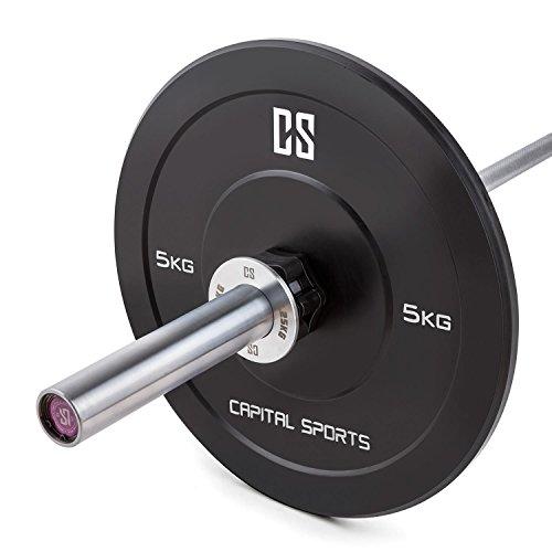 Capital Sports Crumb Set Discos fraccionarios 4 Pares de Pesos 0,25 – 1,0kg (Juego fracciones de Peso para Pesas o Barra olímpica, Total 5kg, Incluye Bolsa Transporte, Cromo)