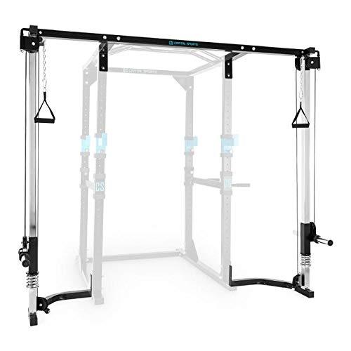 CapitalSports CA Tremendour - Máquina de poleas, Accesorio para Jaula de musculación, Entrenamiento, Mangos con Relleno, Material Acero