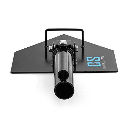 CapitalSports Landmine Extensión Soporte para Barra olímpica (Agarres para Manguitos de 50 y 25mm, Capacidad máxima de Carga: 200kg, Resistente corrosión y rayones, Ideal Entrenamiento en casa, negr