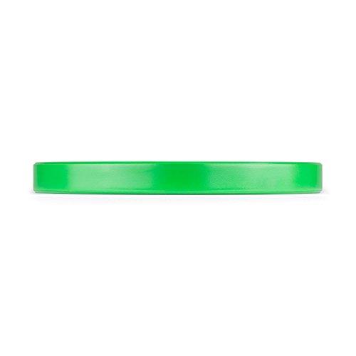 CapitalSports Nipton - Discos de Peso, Discos para Barras, Goma endurecida, 10 kg, Dimensiones de competición, Orificio estándar de 50,4 mm para Todo Tipo de Barras, Verde
