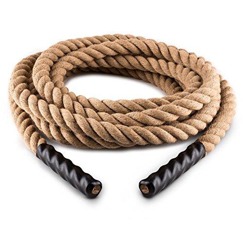 CapitalSports Power Rope Cuerda Impulsar 12 (3,8 Ø, Cuerda Cáñamo 3 Cabos, Cross-Training, Impulso, Entrenamiento, Extremos Plástico Termorretráctil)