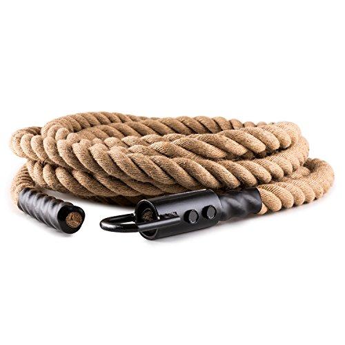 CapitalSports Power Rope Cuerda para impulsar 9m 3,8cm Cáñamo Gancho