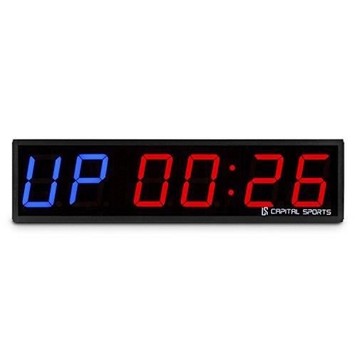 CapitalSports Timeter Temporizador Tabata Cronómetro Cross-Training Profesional (Señal Sonora, Mando Distancia, Ideal Entrenamiento Circuito, Rondas, Series, Memoria 14 Tiempos programados, Apto Mon