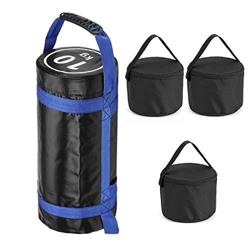 CARACHOME Saco Peso Fitness Saco de Arena, 10-30 kg Levantamiento de Pesas Bolsa de Arena búlgara Boxeo Fitness Workout Squat Bag Bolsa de alimentación Multifuncional (sin Relleno),Blanco,30kg