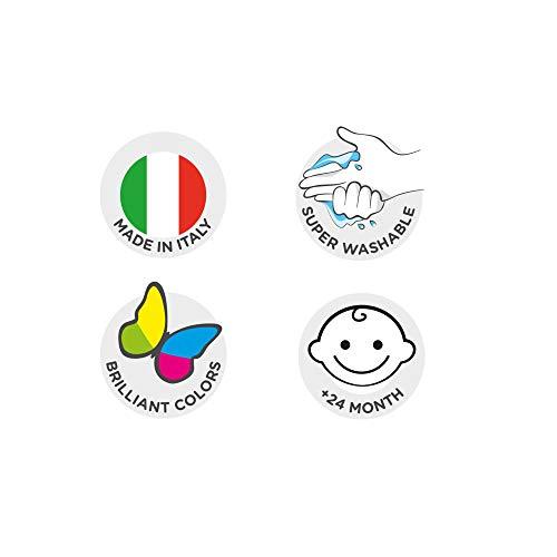 Carioca Finger Paint   KO032 - Set de Pintura de Dedos Super Lavable para niños a Partir de 24 Meses, 6 Botes de 80ml