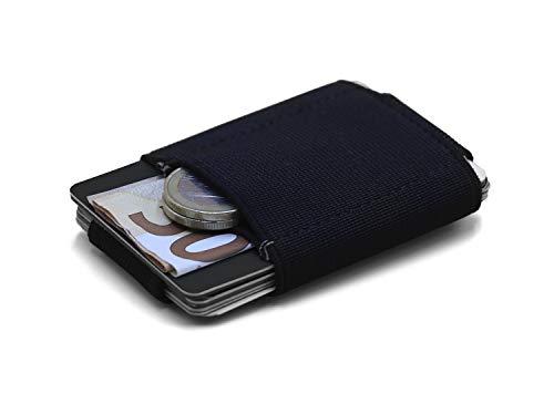 Cartera Hombre Pequeña Minimalista MR. ROBINSON BELFORT | Cartera Tarjetero Ultra Fina con Cuero para Billetes y Tarjetas | Slim Wallet para Hombres (Gris)