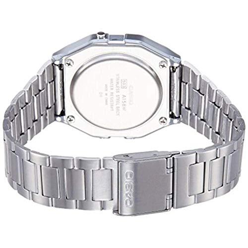 CASIO A158 - Reloj de Pulsera de Acero Inoxidable