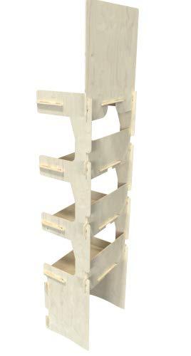 Cemab Italia - Expositor de madera de 4 pisos para tiendas con montaje empotrado
