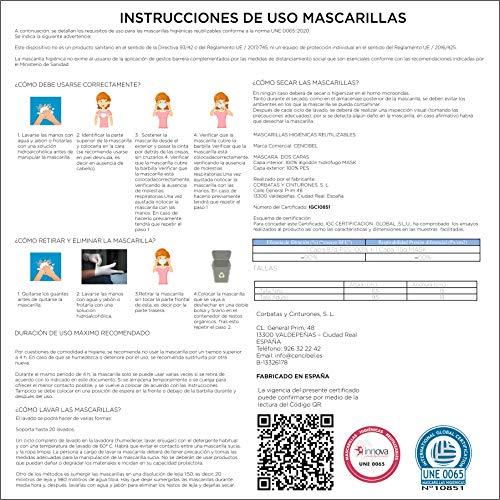 Cencibel Smart Casual Mascarilla Bandera de España Marino (Adulto)