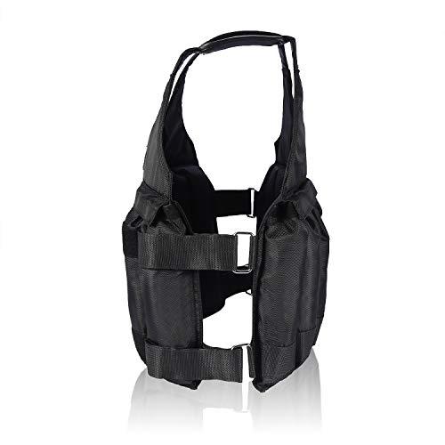 Chaleco Cargado - Chalecos de Peso Ajustable Entrenamiento Cargamento máxima de 20 kg de Peso Boxeo Chaleco Ajustable