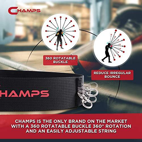Champs MMA Boxing Reflex Ball - Equipo de Boxeo Fight Speed, Boxing Gear Punching Ball Ideal para Velocidad de reacción y coordinación Mano-Ojo Entrenamiento Bolsa Reflectante Alternativa (4-Set)