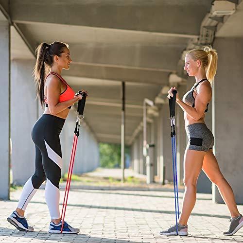 CHIFOOM 2PCS Mango de Resistencia para Ejercicios, 4PCS Mosquetón, Nylon Cuerda Tríceps Manija, Mango de Espuma, Fitness para Yoga, Gimnasio, Equipo de Entrenamiento a Atleta, Instructor de Fitness