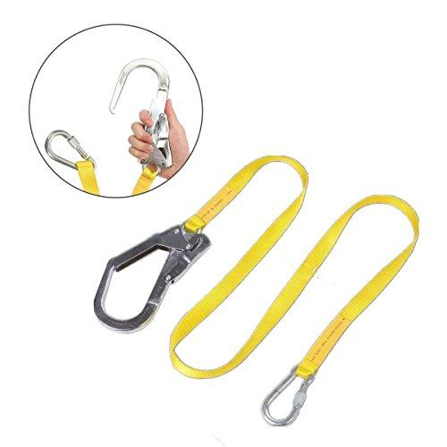 Cikuso Cordon de Seguridad, Cordon Cinturon arnes de Escalada al Aire Libre Cuerda de Proteccion contra caidas con Grandes Ganchos, carabinero, mosqueton