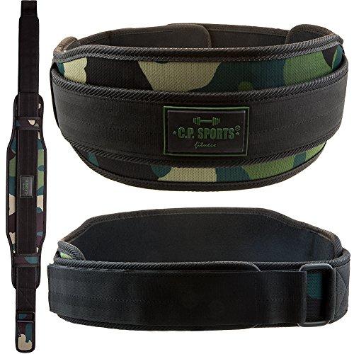Cinturón de entrenamiento para el levantamiento de pesas de C.P.Sports, verde, medium