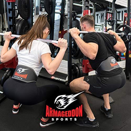 Cinturón Musculación para Halterofilia Levantamiento de Pesas Gimnasio Fitness Gym - 15 cm de Ancho Protección Lumbar - Cuero Auténtica para Hombre y Mujer (L (85-105 cm circunferencia de la cintura))