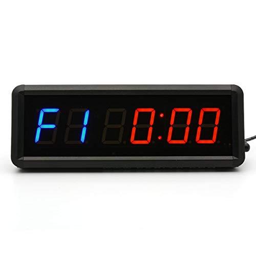 CKB LTD dígitos 1.5 LED Cuenta atrás intervalo de Gimnasio y Fitness Incluye UK Plug & Mando a Distancia Temporizador cronómetro Reloj de Pared para Clubes Deportivos escuelas Tabata Crossfit emom