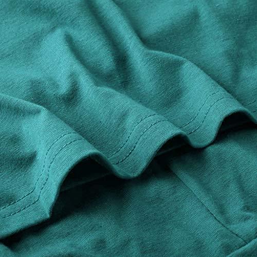 CLOOM Sudadera De Manga Corta para Mujer Casual Suelta Camiseta De Color Sólido Basic Casual Dulce Blusas del Fitness y Training La Primavera y Verano para Mujers Señoras Chicas Camisa Tops