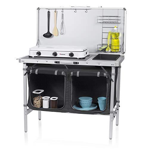 Cocina de camping Granada Campart Travel KI-0757 – Cocina completa – Bolsa de almacenamiento incluida