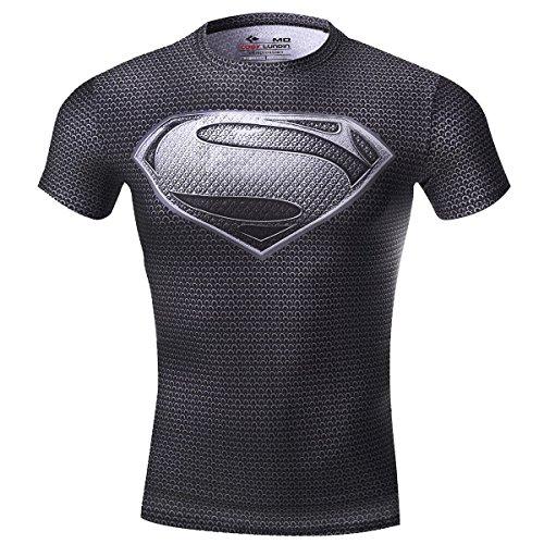 Cody Lundin - Camiseta de fitness para hombre, manga corta, diseño de símbolo de Superman, Hombre, color Superman A, tamaño L