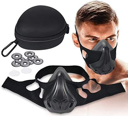 ColorJoy Máscara de Entrenamiento 4.0 con 8 filtros Máscara de Entrenamiento 48 Niveles Niveles de Resistencia respiratoria - Entrenamiento de máscara de Fitness en simulación de Gran altitud Aumenta