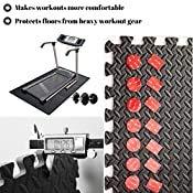 ComFy Mat - Esterilla de ejercicio de espuma entrelazada unisex, color negro, tamaño 4 TILES ( 16 Square feet)