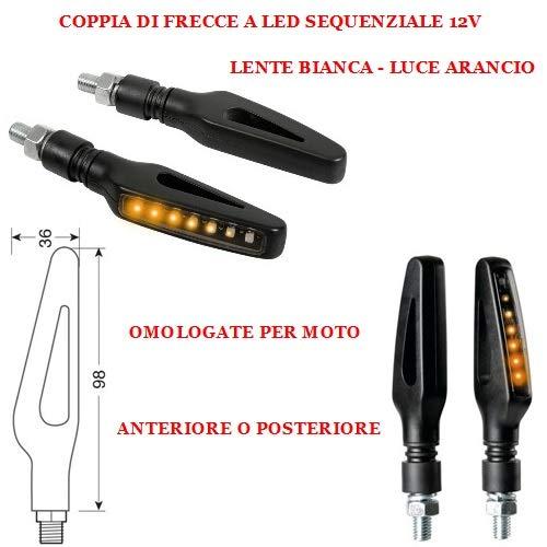 Compatible con Suzuki SFV Gladius 650 Pareja DE Flechas LED SECUENCIALES para Indicadores DE DIRECCIÓN DE Motocicletas 12V Universal 86CM X 36CM LAMPA Aprobado