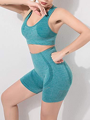 Conjunto Deportivo Mujer Yoga Mujer Fitness Conjunto De Yoga Sin Costuras De Verano para Mujer Ropa De Entrenamiento Pantalones Cortos De Gimnasio Sujetador Deportivo De Fitness Traje Deportiv