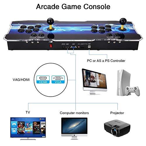 Consola de videojuegos, SeeKool 3D Pandora X Multijugador Home Arcade Game Console, con 2500 Juegos retros, Soporte de Tarjeta TF+Usb Dis, para PC / Ordenador portátil / PS3/ TV