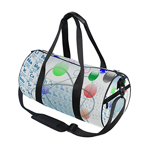 COOSUN Atomic Elements - Bolsas de Deporte para Hombre y Mujer, Diseño de Mesa de Química