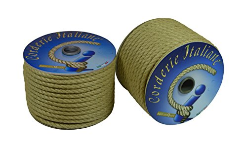 Corderie Italiane 006044062cuerda yute, 6mm, 100m