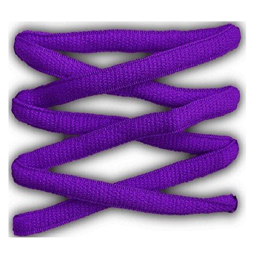 Cordones deportivos ovalados de alta calidad 125 cm morado