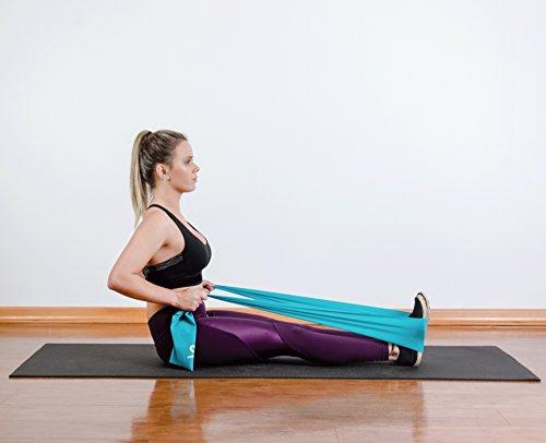 Coresteady Bandas de Resistencia Terapéuticas Bandas de Fitness Pilates, Yoga, Entrenamiento de Fuerza   Fisioterapia y rehabilitación  para Hombres y Mujeres  Guía incluida