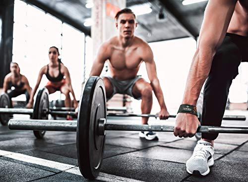 Correas Levantamiento De Pesas, 2 Unidades - Muñequeras Deportivas Profesionales Acolchadas | Weight Lifting Bar Straps para Powerlifting Crossfit Entrenamiento Culturismo Haciendo Deporte Fitness