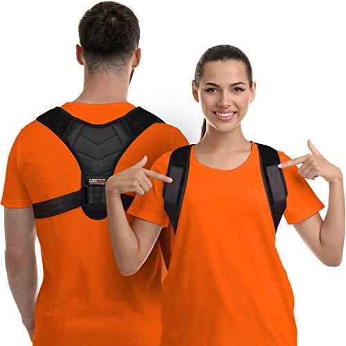 Corrector de Postura para Hombres y Mujeres, Órtesis para Parte Superior de Espalda para Soporte de Clavícula, Enderezador de Espalda Ajustable y Brinda Alivio al Dolor de Cuello, Espalda y Hombro