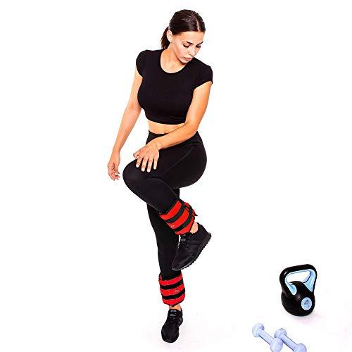 C.P. Sports Puños de peso, pesa pies y muñeca, crossfit, fitness, yoga, artes marciales, aeróbicos, gimnasia 2X 0,5kg – 2X 1kg - 2X 1,5kg - 2X 2kg - 2X 2,5kg - 2X 3kg-2x 4kg-2x 5kg-2x 6kg (5,0)