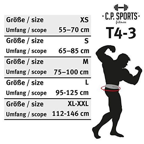 C.P. Sports T4–1–Cinturón de piel Para Pesas y Fitness, extra ancho, - Body